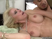 Petite Mom Jodie Stacks In Stockings