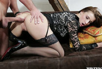 Luscious Victoria Daniels gets her ass torn up by massive cock
