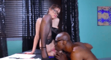 Riley Reid secretary in stockings interracial sex