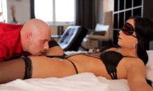 Blindfolded Anna Rose having her sweet pussy licked by her master