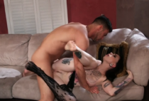 Guy really enjoys to cum on stockings