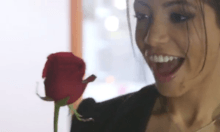 Hot Latina babe Veronica Rodriguez having sex in bed of roses