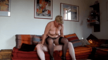 Mature couple having sex at home in amateur video