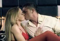 Alluring slut Andy Brown having sex in red stockings
