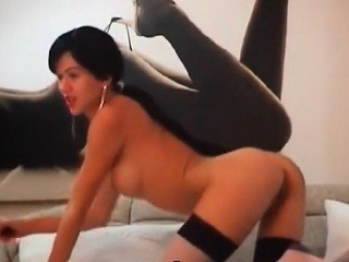 Perfect Latina masturbates with dildo on cam