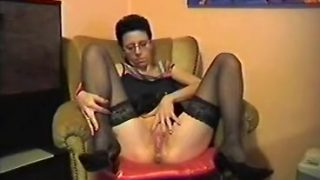 Mature wife sucks off her husband