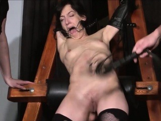 Tied Elise Graves pussy punished
