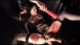 Japanese girl BDSM Fetish Spanking and candle wax
