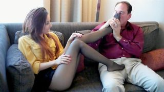 Hottest homemade Stockings footjob video