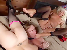 Marli Jane And Patricia Petite let Kyle Stone join foot fetish threesome
